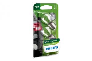 Автолампа 12V PHILIPS P21W LongLife Eco Vision (блистер 2шт.)