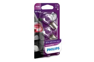 Автолампа 12V PHILIPS P21W Vision Plus (блистер 2шт.)