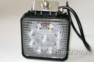 Фара LED 27W / flood (квадратный корпус)