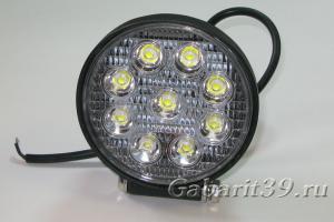 Фара LED 27W R / flood (круглый корпус)