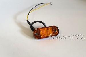 Фонарь габаритный ТАС 62-00 желтый светодиодный
