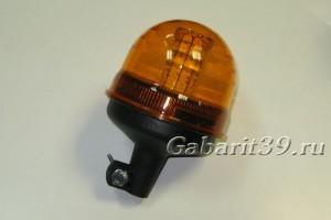 Маячок проблесковый LED 12V/24V на штырь (40 диодов)