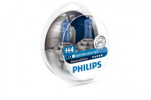Автолампа 12V PHILIPS H4 60/55W DiamondVision к-кт 2 шт