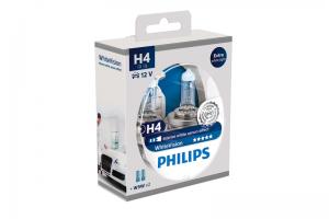 Автолампа 12V PHILIPS H4 60/55W WhiteVision