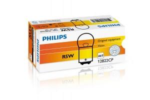 Автолампа 12V PHILIPS R5W (1 контакт и масса)