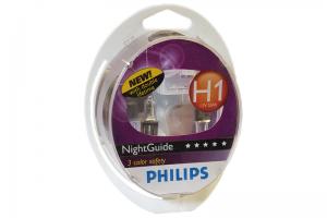 Автолампа 12V PHILIPS H1 55W NightGuide DoubleLife